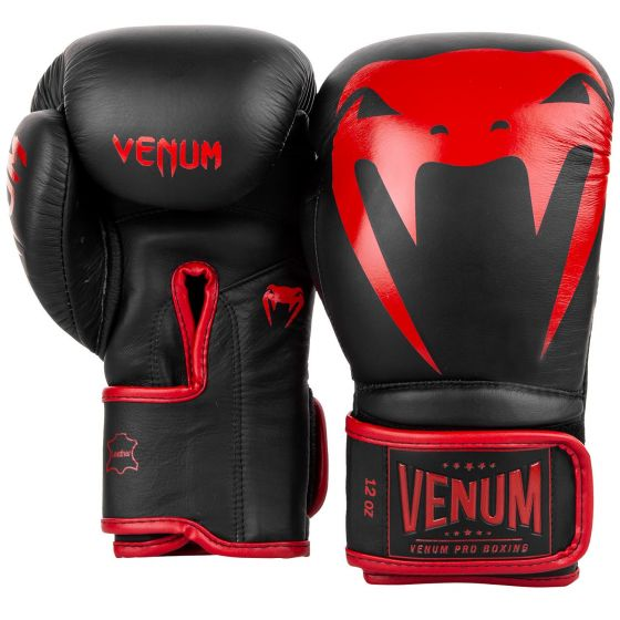 Venum Giant 2.0 Pro Boxing Gloves - Velcro - Black/Red