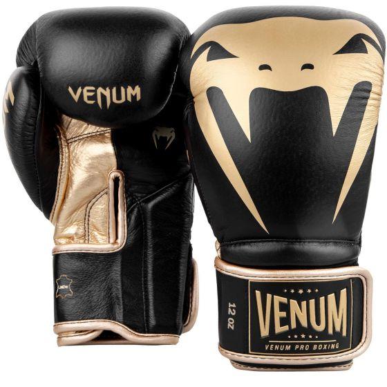 Venum Giant 2.0 Pro Boxing Gloves - Velcro - Black/Gold