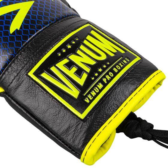 Venum Hammer Pro Bokshandschoenen Loma-editie - met veters - blauw/geel
