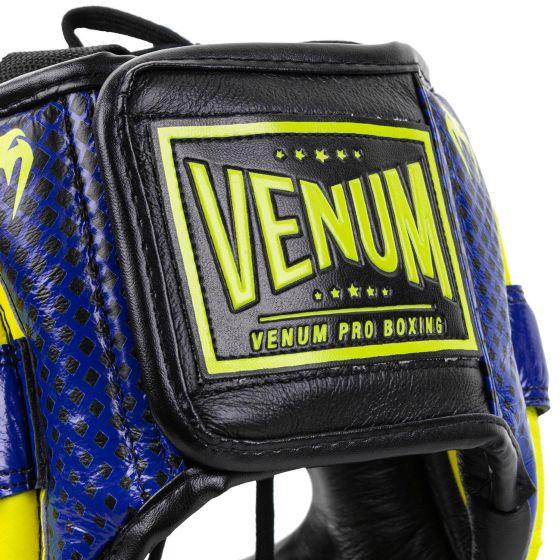 Casco de boxeo profesional Venum Edición Loma - Azul/amarillo