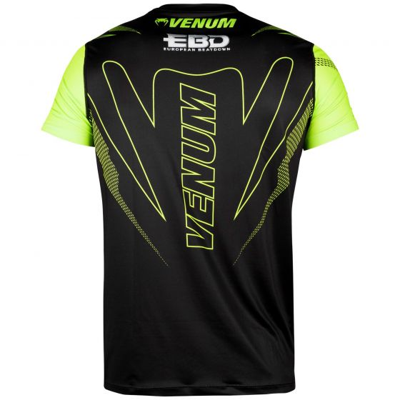 Venum European Beatdown Dry Tech T-shirt - Black/Neo Yellow