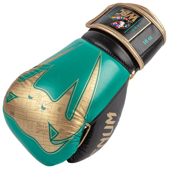 Venum Giant 2.0 Pro Boxing Gloves WBC Limited Edition - Velcro - Green Metallic/Gold