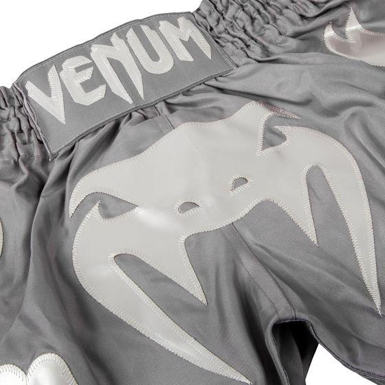 Pantalones Cortos de Muay Thai Venum Bangkok Inferno  - Gris Gris