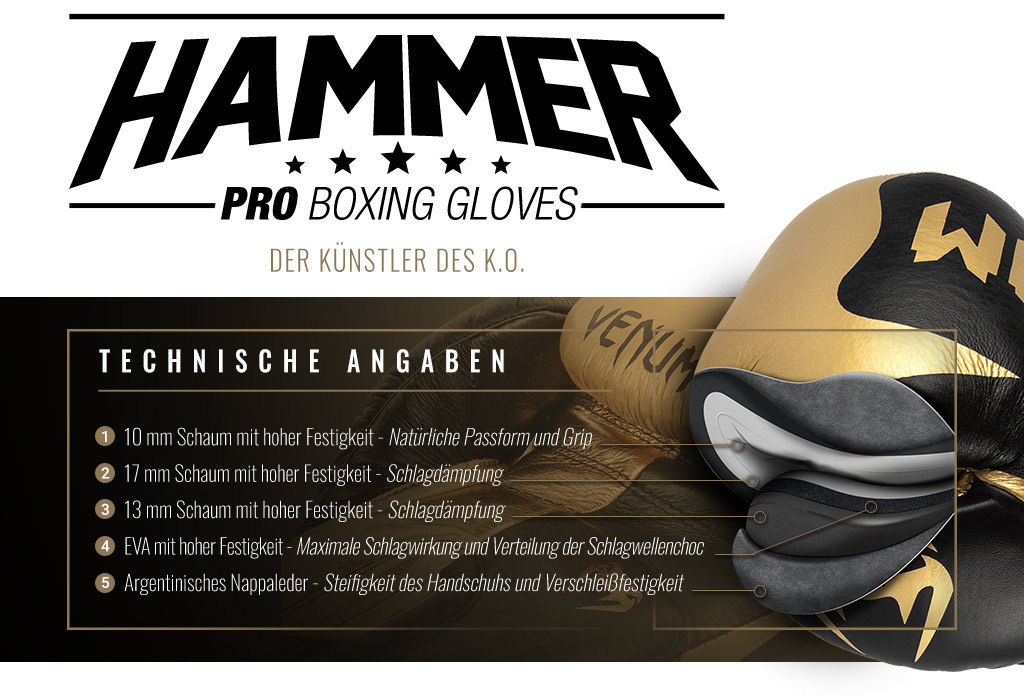 Professionelle Boxhandschuhe Hammer