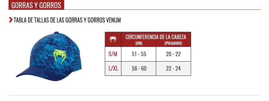 venum cap size chart