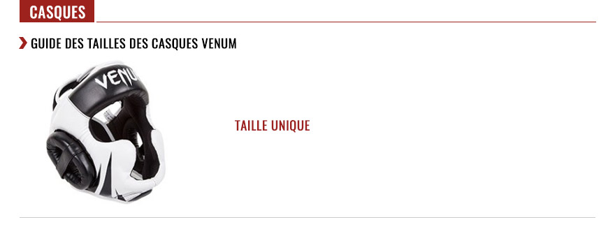 venum headgears size chart